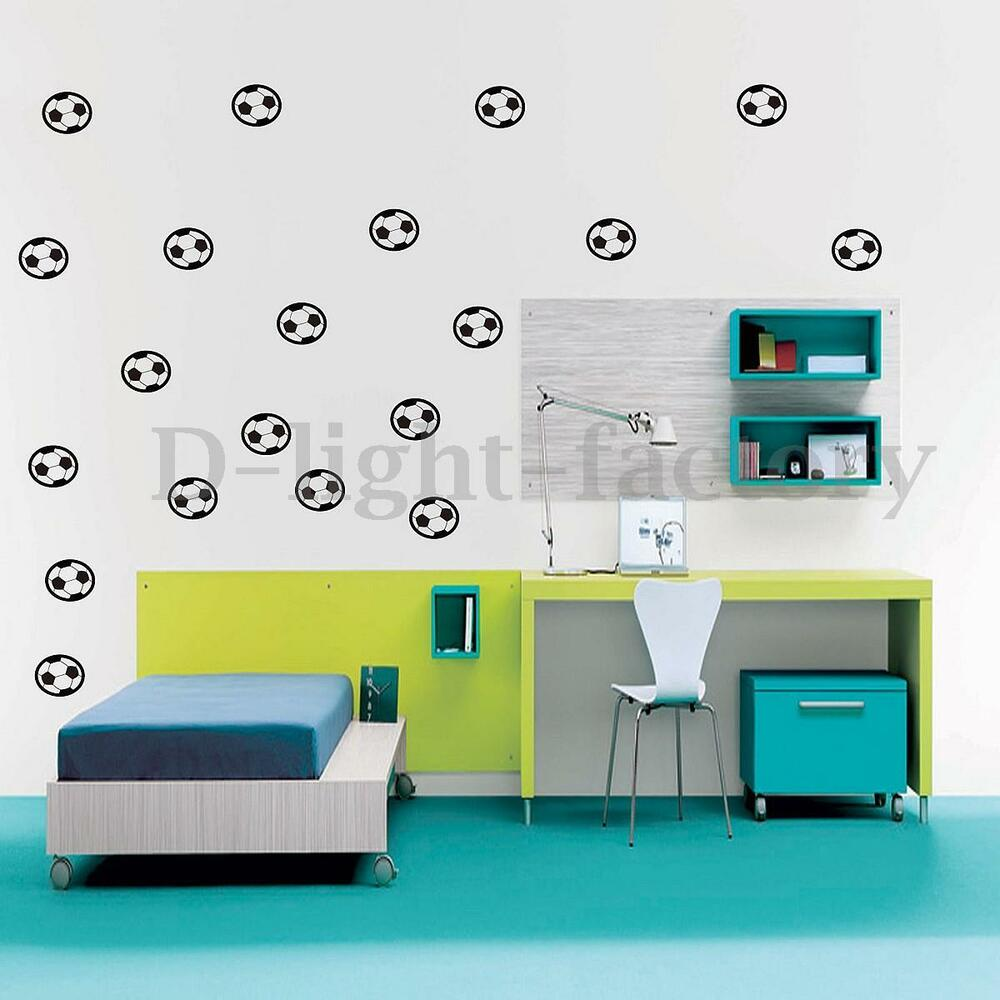 20pcs Football Wall Stickers Soccer Art Vinyl Decal