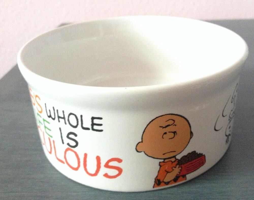 Peanuts Snoopy Dog Bowl Charlie Brown Ceramic Stoneware