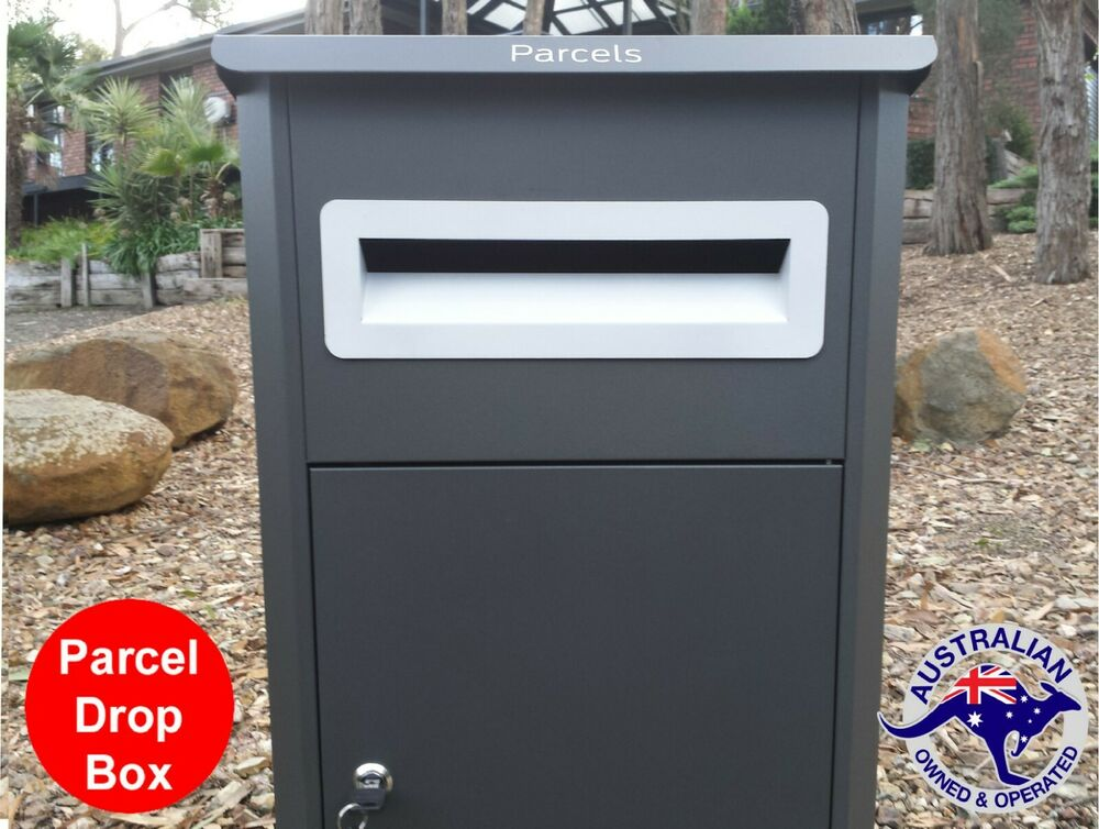 Parcel Letterbox Mail Drop Box Mailbox Post Monument Grey