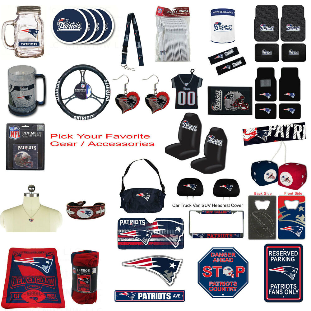New NFL New England Patriots Pick Your Gear / Accessories Official Licensed  eBay