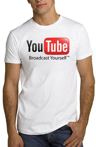 youtube logo internet video t shirt all sizes new ebay. Black Bedroom Furniture Sets. Home Design Ideas