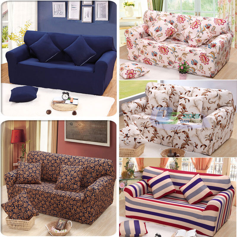 2 Seater Sofa Love Seat Removable Washable Elastic
