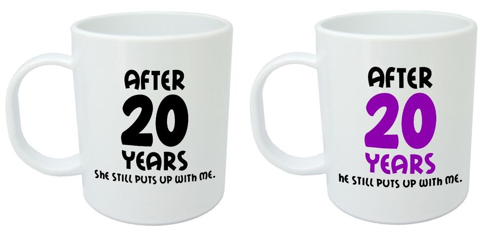 After 20 Years Him Her Mugs 20th Wedding Anniversary Gifts For