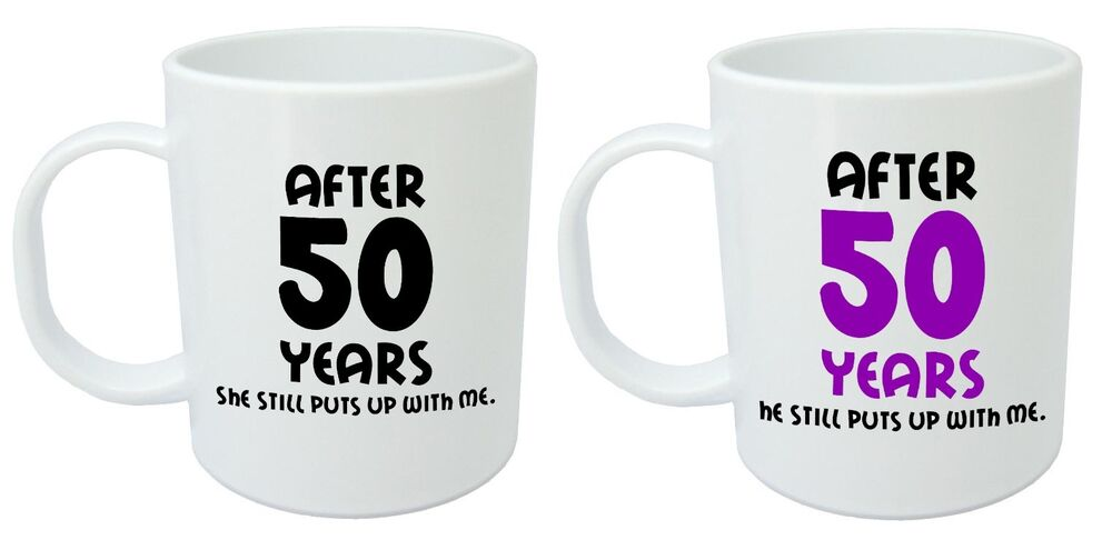 After 50 Years Him Her Mugs 50th Wedding Anniversary Gifts For