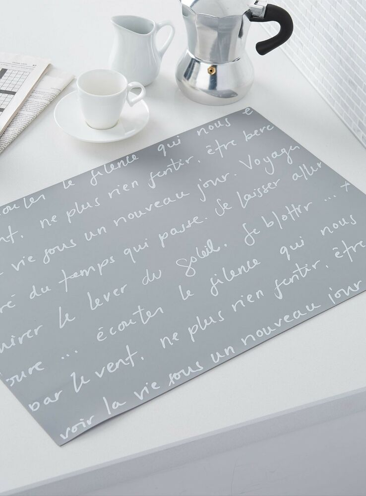 4 French Cafe Paris Style Theme Table Place Mats Kitchen Home Word
