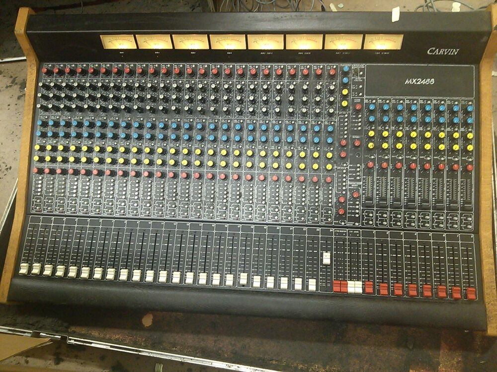 Vintage carvin mx2488 mixing console board carvin professional series ebay - Professional mixing console ...