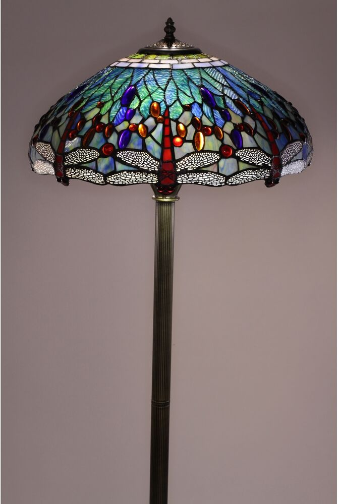 Floor Lamps for Living Room Tiffany Style Dragonfly Blue ...