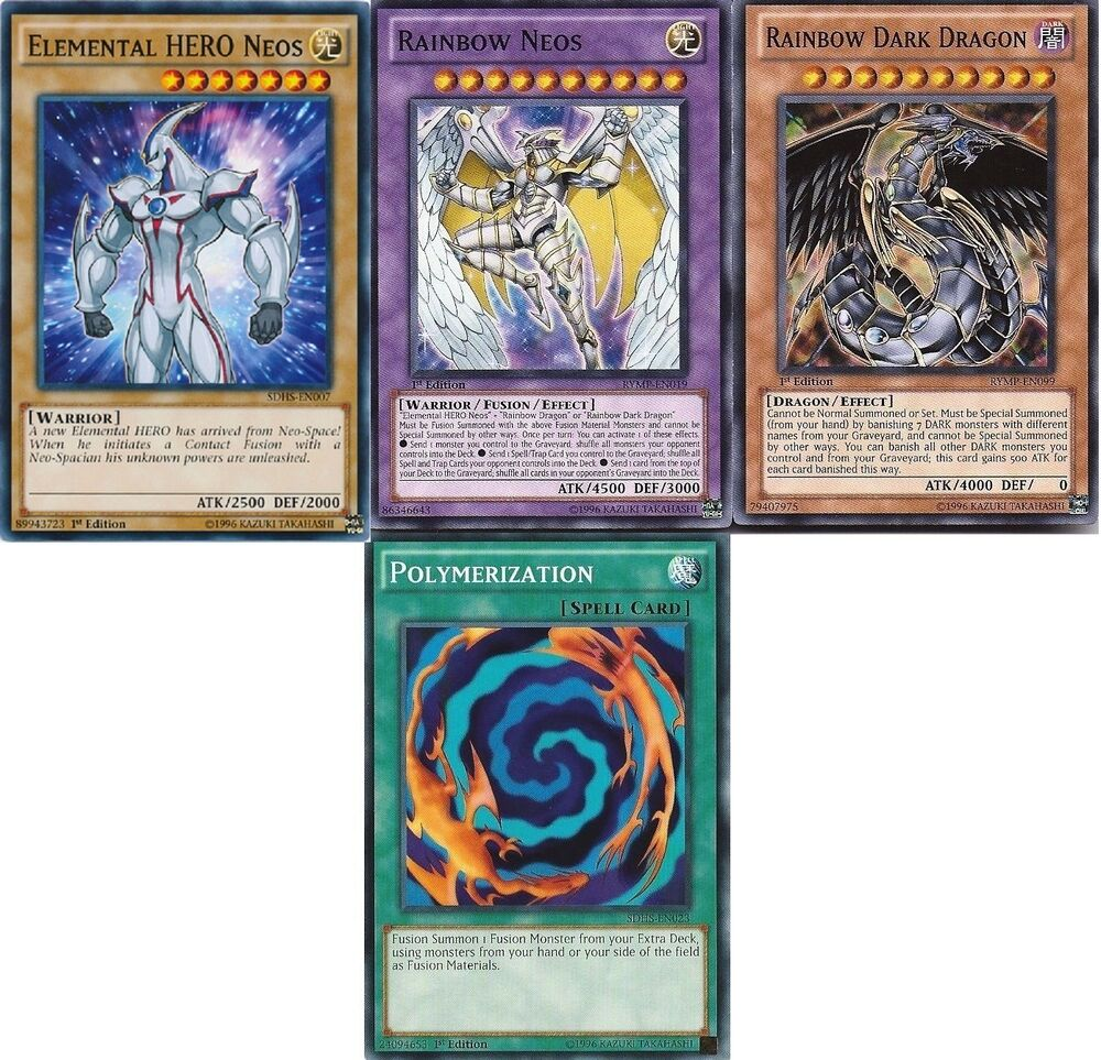 Elemental Hero Cards: Rainbow Neos Polymerisation Set Rainbow Dark Dragon
