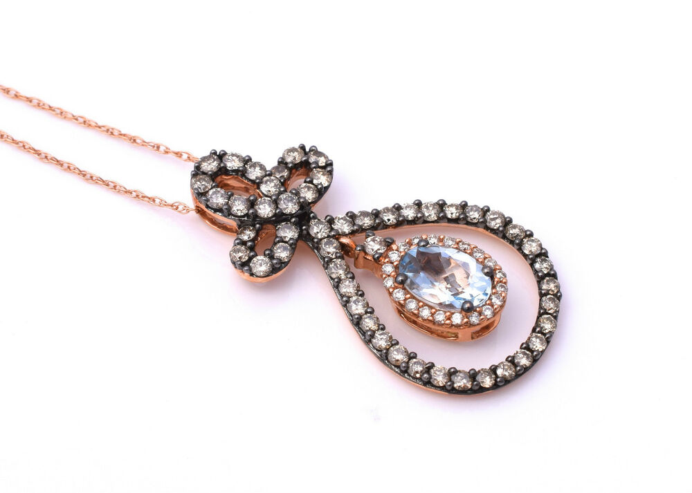 Rose Gold Chocolate Diamond Pendant