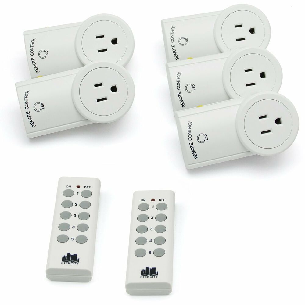 Auto-Programmable Wireless Remote Control Outlet Switch