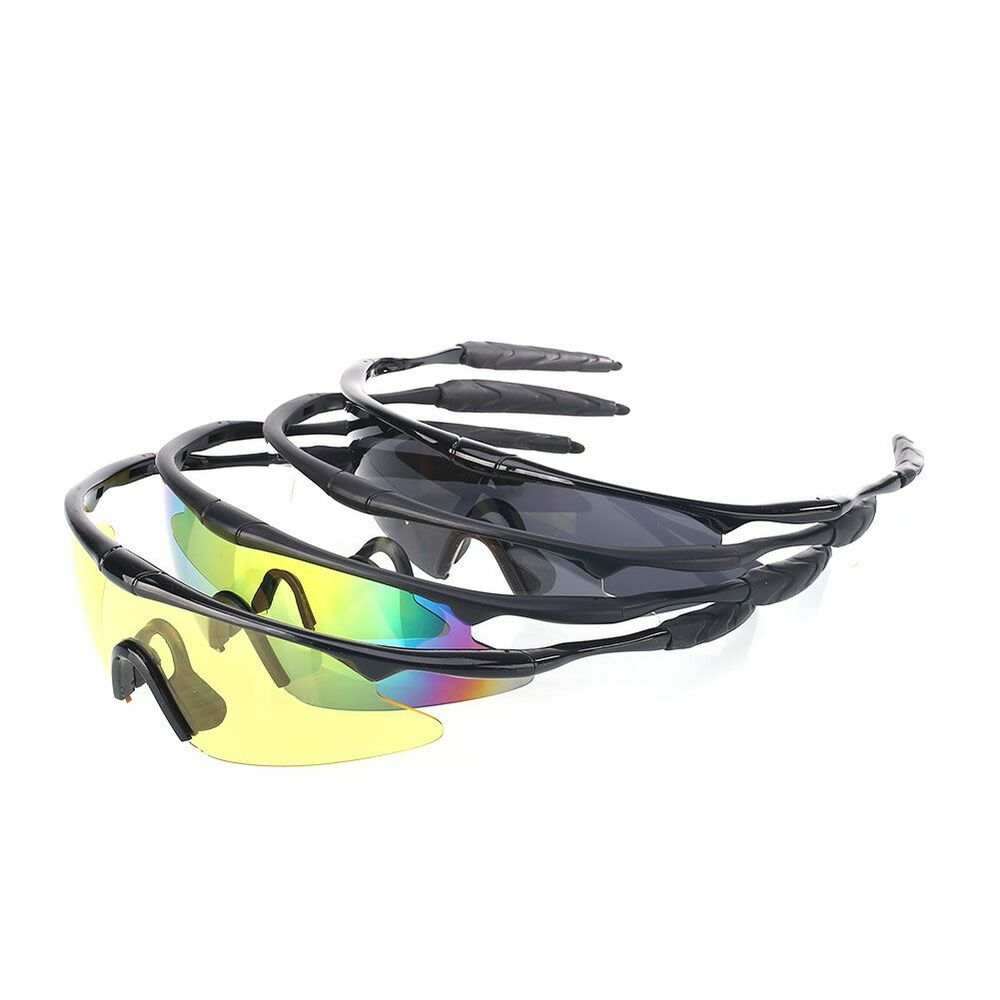 clear sports goggles  UV400 Tactical Sports Police Shooting Eye Protect Glasses Clear ...