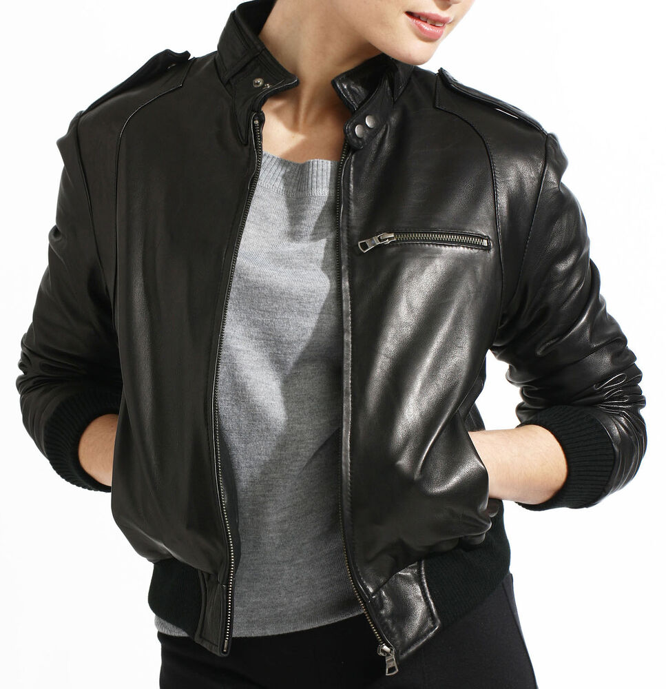"Nothing says ""rebel"" like a cool leather bomber jacket. Check out timeless designs featuring a furry collar. Or go super old school with an edgy moto-inspired topper from Levi's."