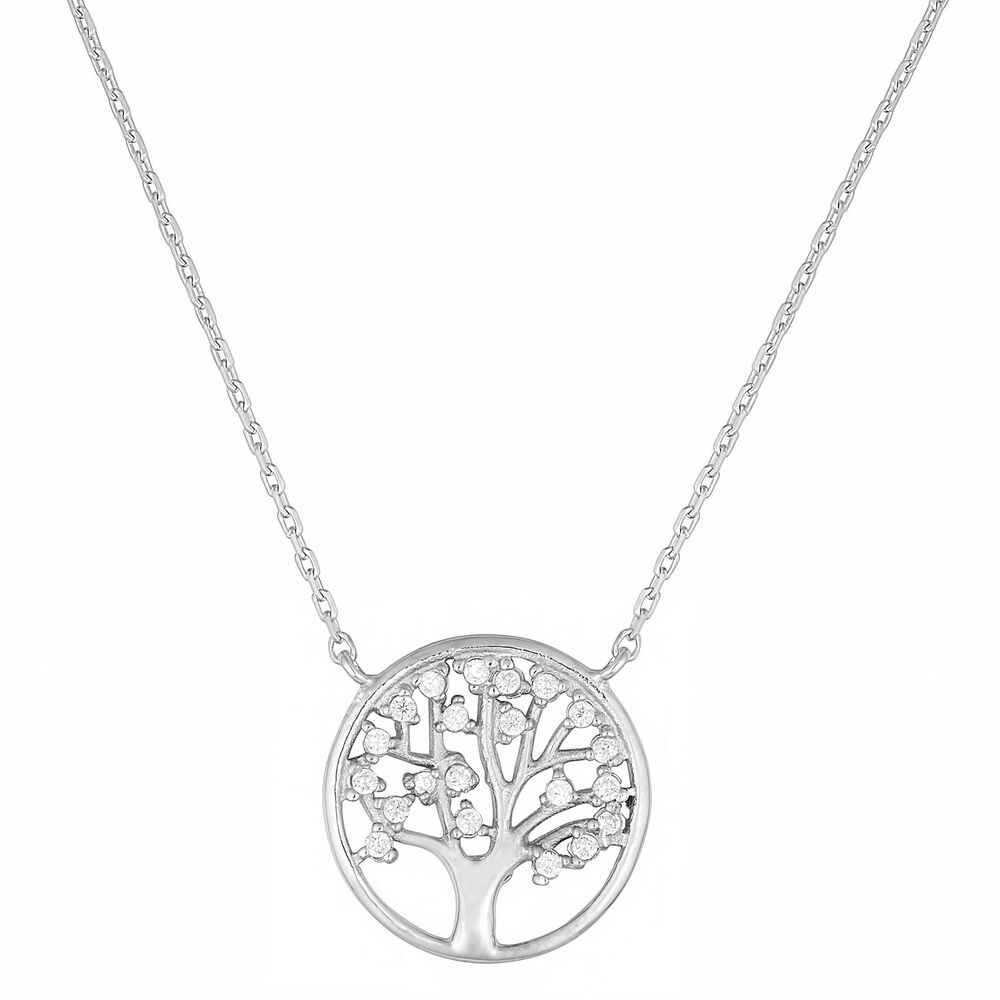 Fremada sterling silver cubic zirconia tree of life for What is the meaning of the tree of life jewelry