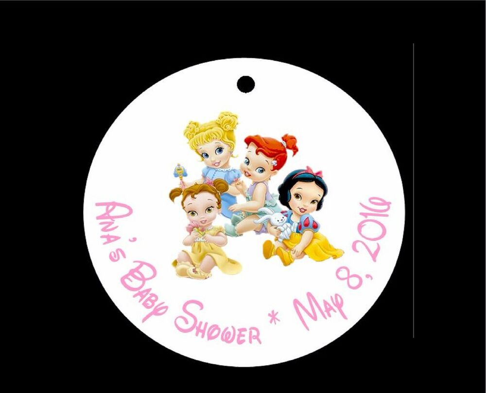 10 disney princess baby shower favor tags cinderella belle ariel