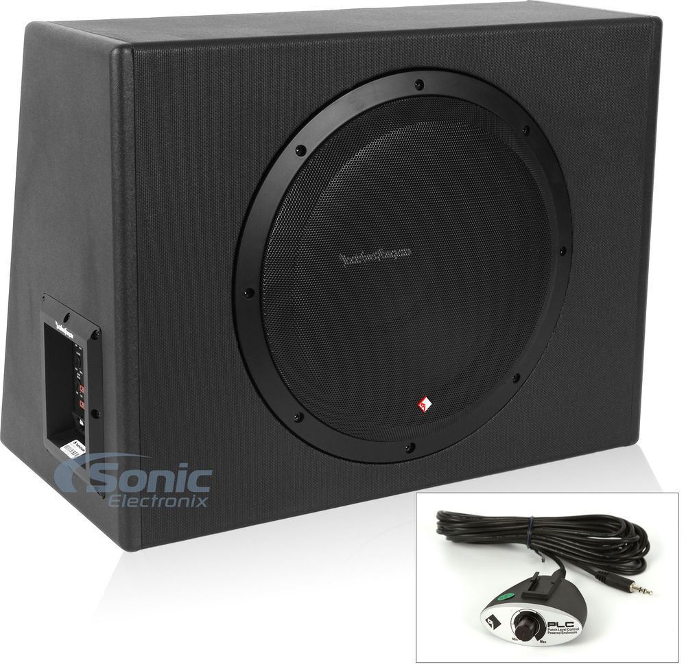 new  rockford fosgate p300 12 single 12 quot  300w powered subwoofer enclosure ebay