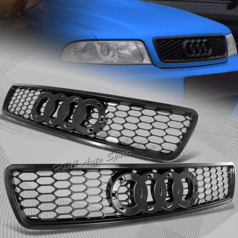 For 1996-2001 Audi A4 S4 Black ABS Honeycomb RS4 Style Front Hood Grille Grill | eBay