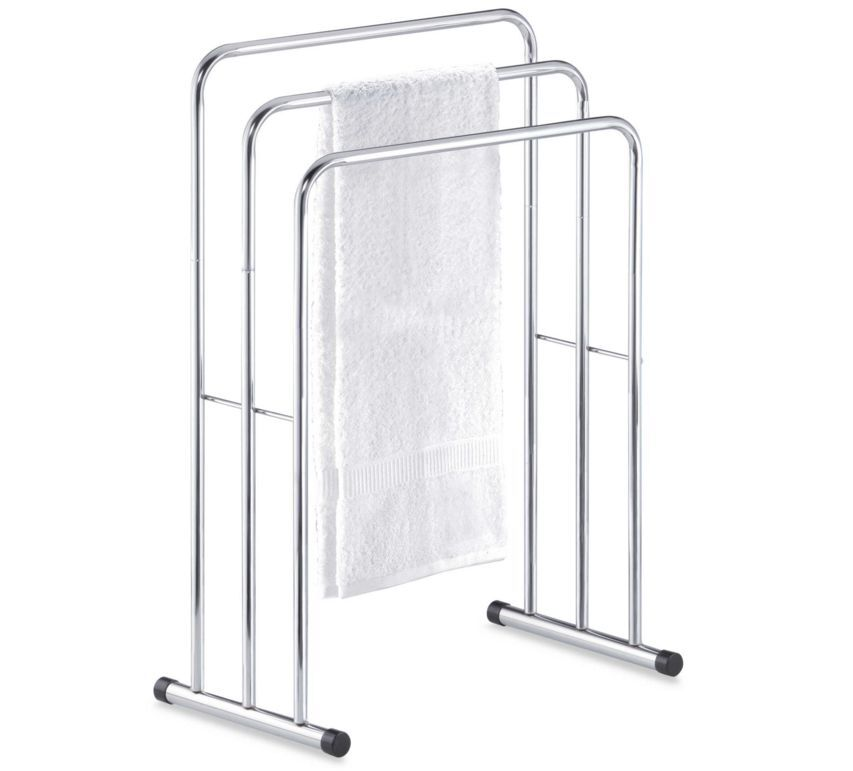 Bathroom Free Standing Bath Towel Valet Rack Floor Stand