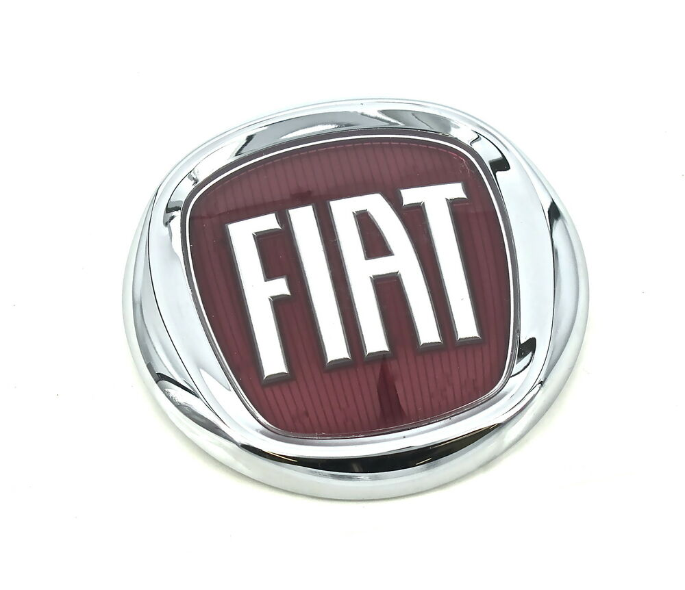 genuine new fiat grille red badge emblem grande punto 2005 2011 panda 2003 ebay. Black Bedroom Furniture Sets. Home Design Ideas
