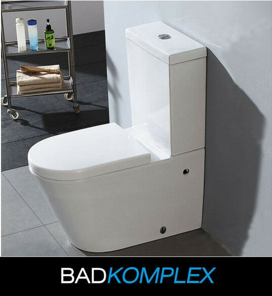 design stand wc tiefsp ler inkl softclose wc sitz komplett aus keramik ebay. Black Bedroom Furniture Sets. Home Design Ideas