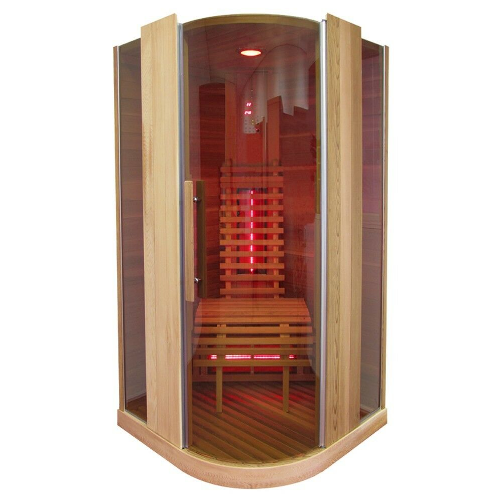 infrarotkabine infrarot w rmekabine infrarotsauna sauna 100 x 100 ebay. Black Bedroom Furniture Sets. Home Design Ideas