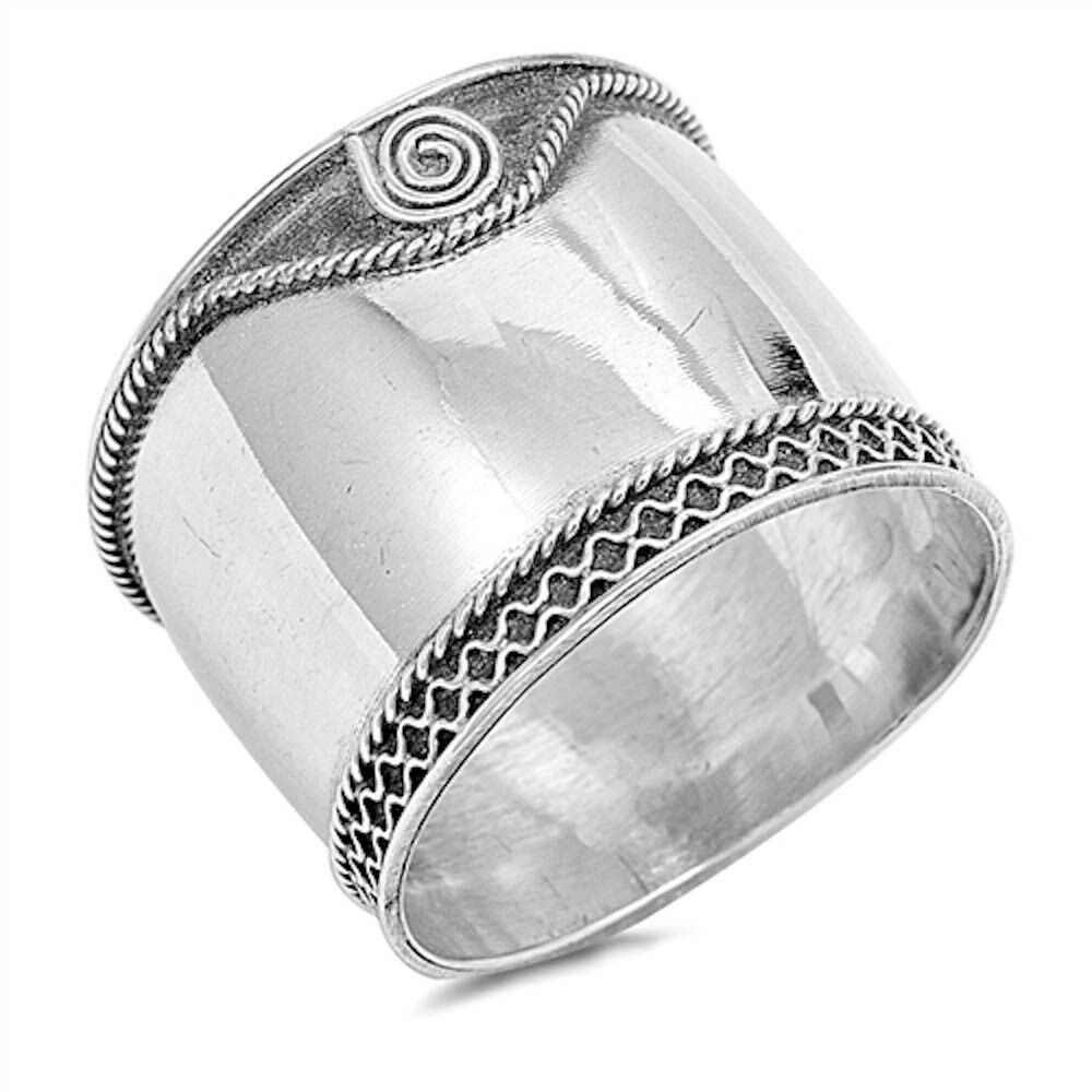 plain bali band 925 sterling silver ring sizes 5 12 ebay