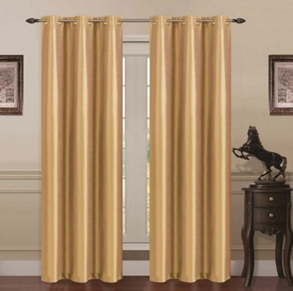 panels gold room darkening lined blackout grommet window curtain k72