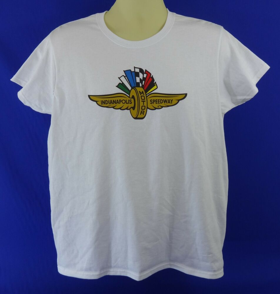 New indianapolis motor speedway collector white t shirt for Indianapolis motor speedway clothing