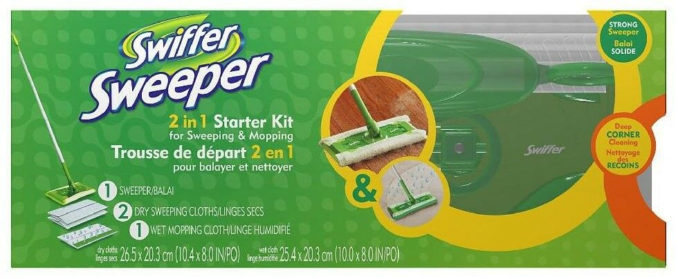 Swiffer Sweeper 2 In 1 Mop And Broom Floor Cleaner Kit The