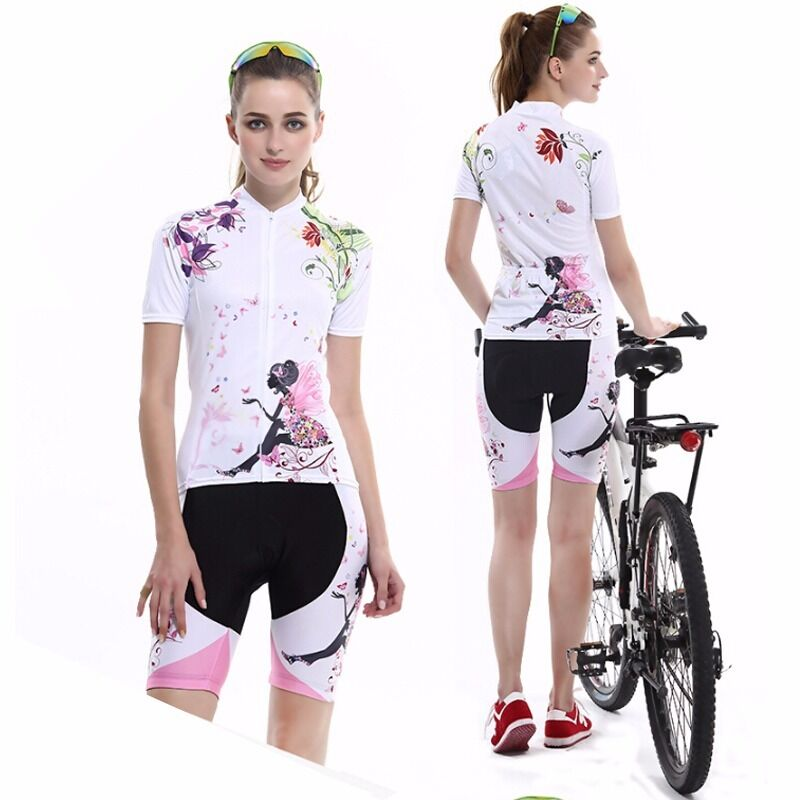 6de22ee8977 Details about Pro Women s Cycling Jerseys   Shorts Sets MTB BIke Bicycle  Clothing Sports Kit