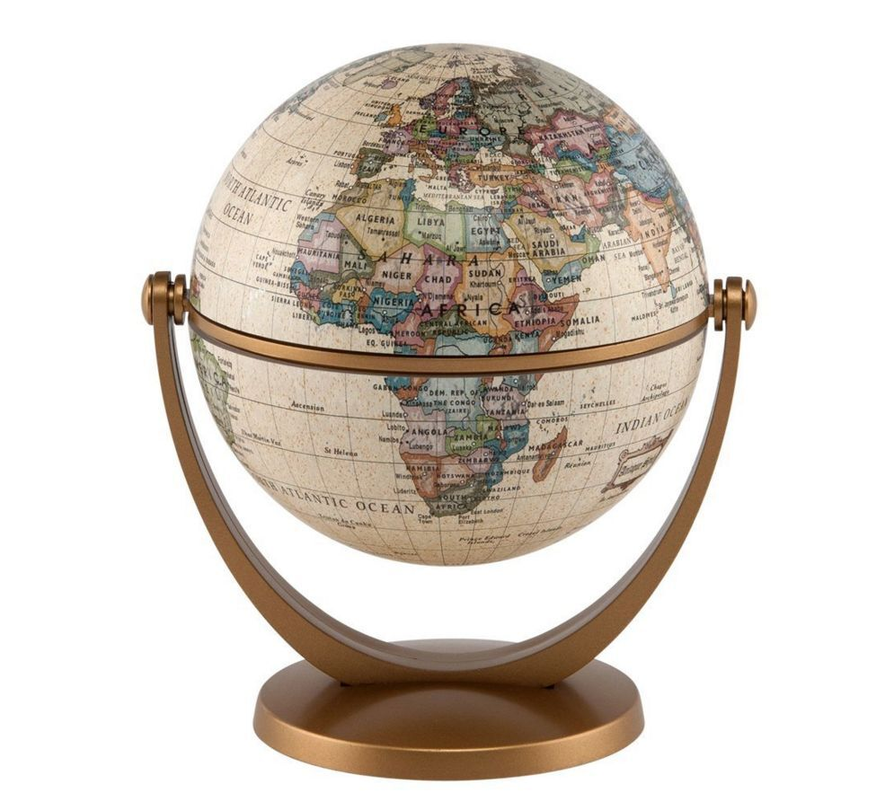 World globe swivel and tilt desk table antique globe home office quality decor ebay - Globe main office address ...