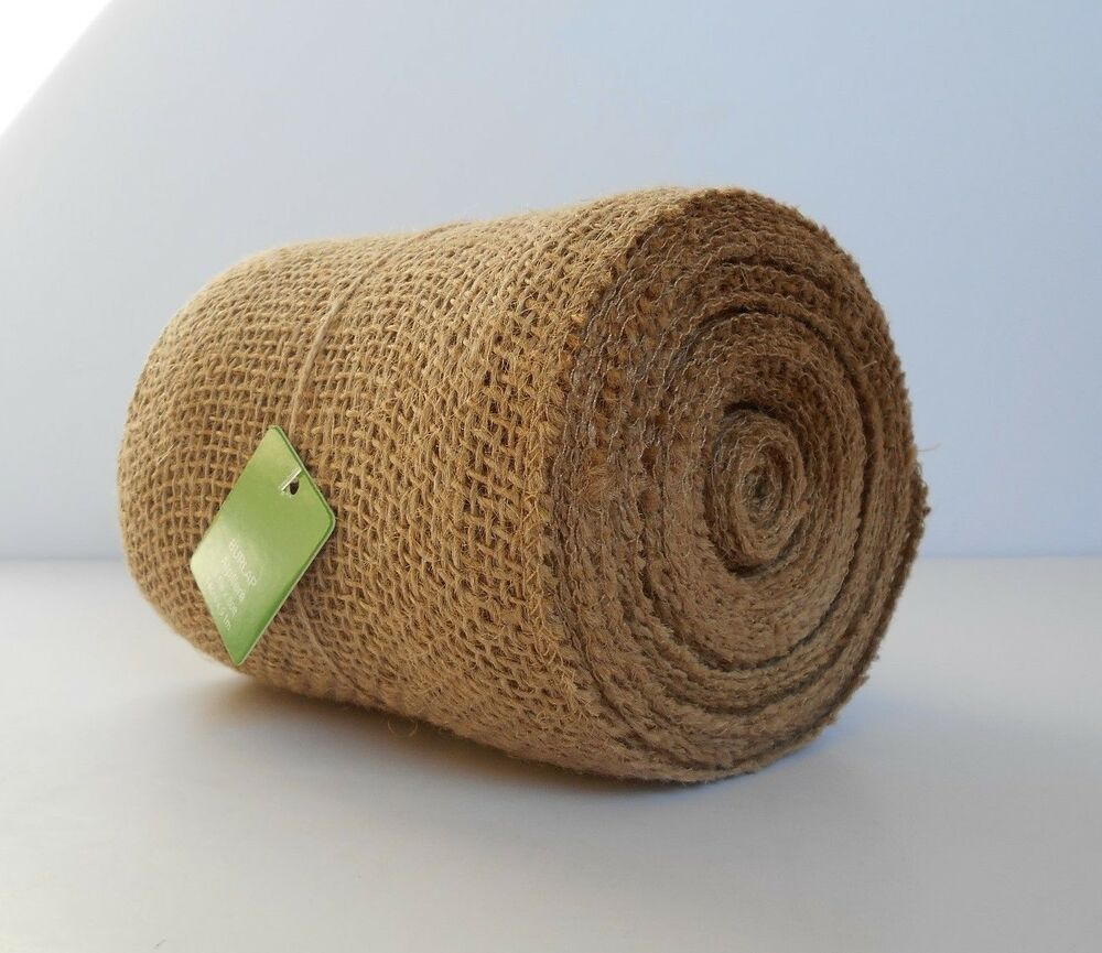30 Ft 5 5 Quot Wide Jute Burlap Mesh Ribbon Roll Natural Tan