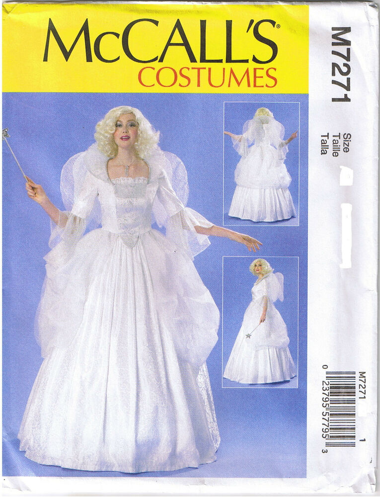 Fairy Godmother Angel Dress Ball Gown Mccall Costume