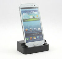 New Black Data Sync Charger Base Dock Station Cradle for Samsung Galaxy S3 i9300