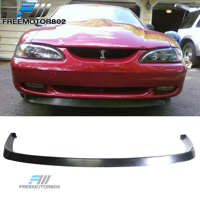 for 94 98 ford mustang v6 v8 pu front bumper lip spoiler bodykit chin gt style ebay. Black Bedroom Furniture Sets. Home Design Ideas