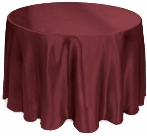Linentablecloth 108 inch round satin tablecloth burgundy for 108 round table cloth