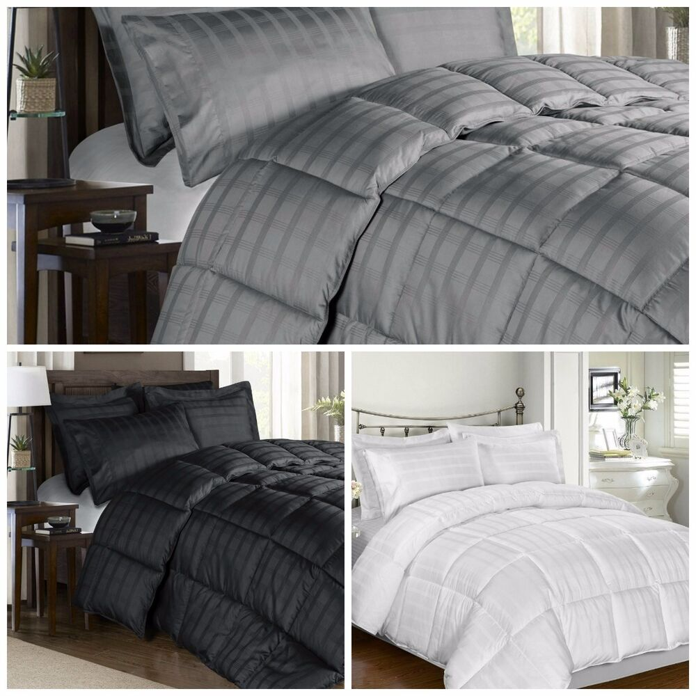 300 Thread Count Cotton Plaid Goose Down Alternative