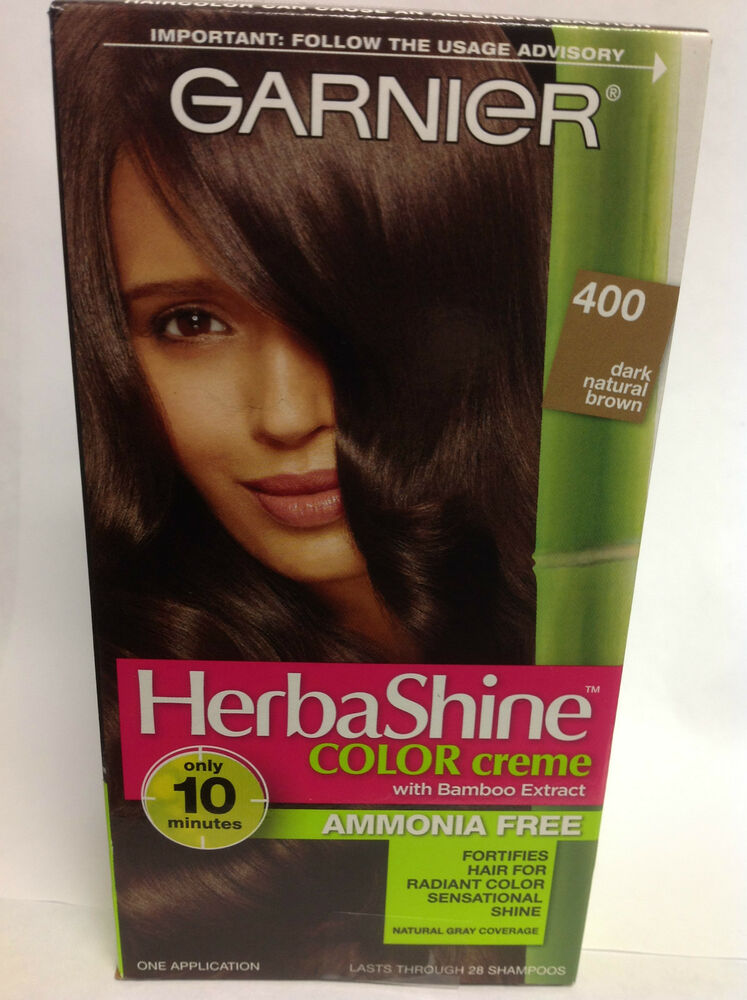 One Garnier Herbashine Haircolor Creme 400 Dark Natural