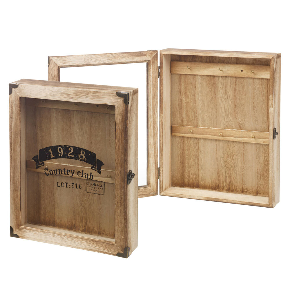 Wooden Wall Mounted Key Storage Cabinet Holder Cupboard 6