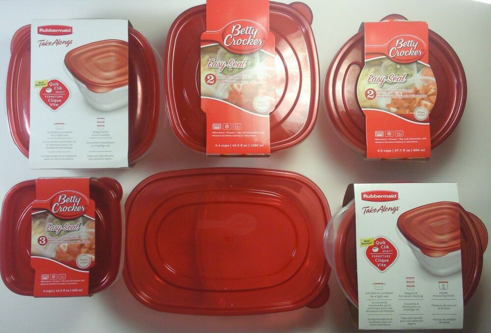 FOOD STORAGE CONTAINERS & LIDS Microwave Dishwasher Freezer SELECT: Size-Shape | eBay
