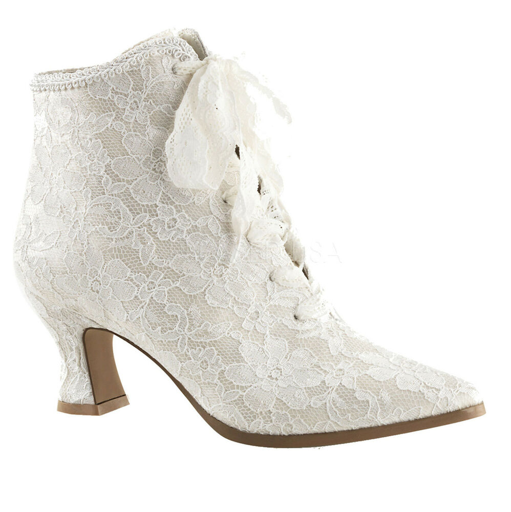 Victorian Lace Wedding Shoes