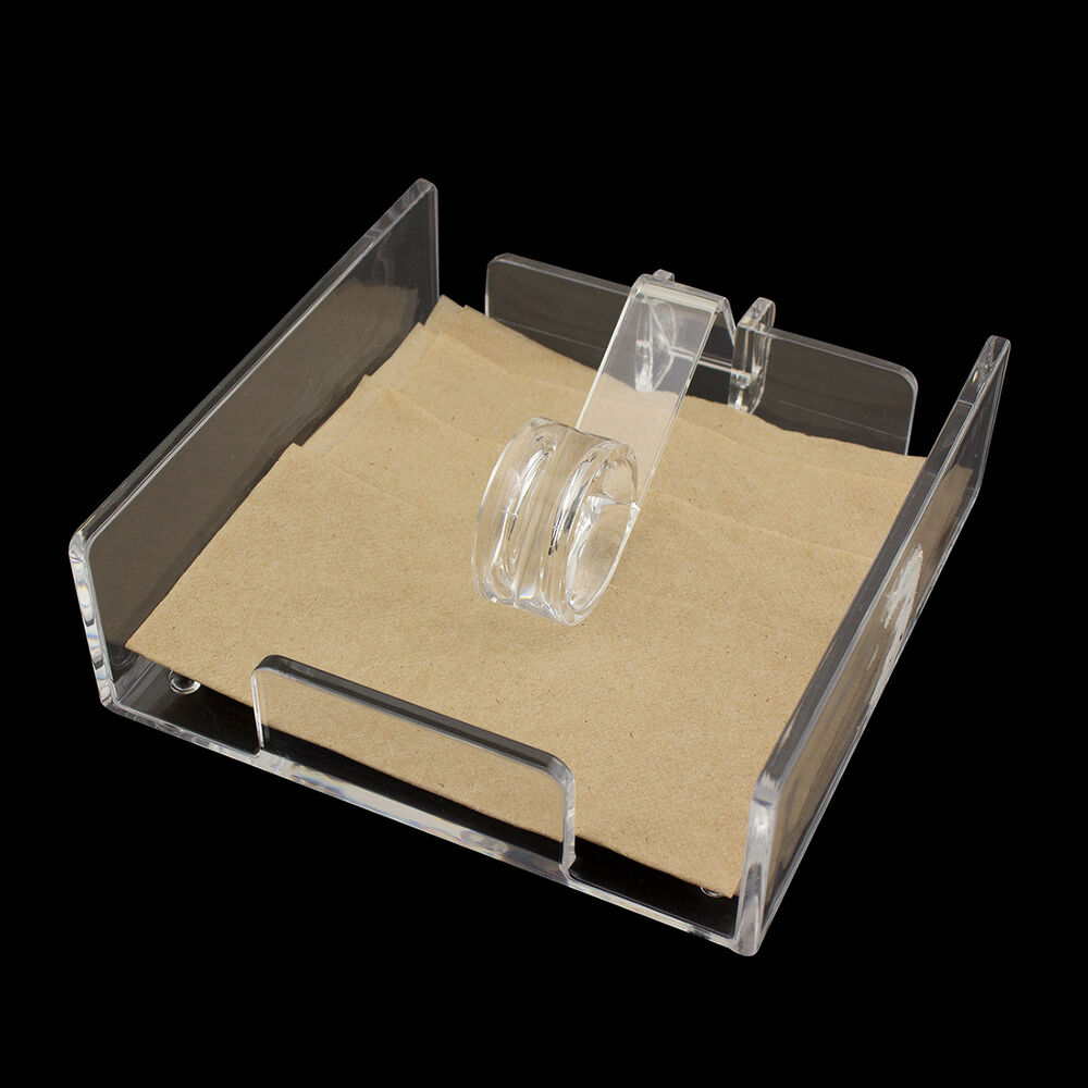 Acrylic Cocktail Napkin Holder Luncheon Roller Style