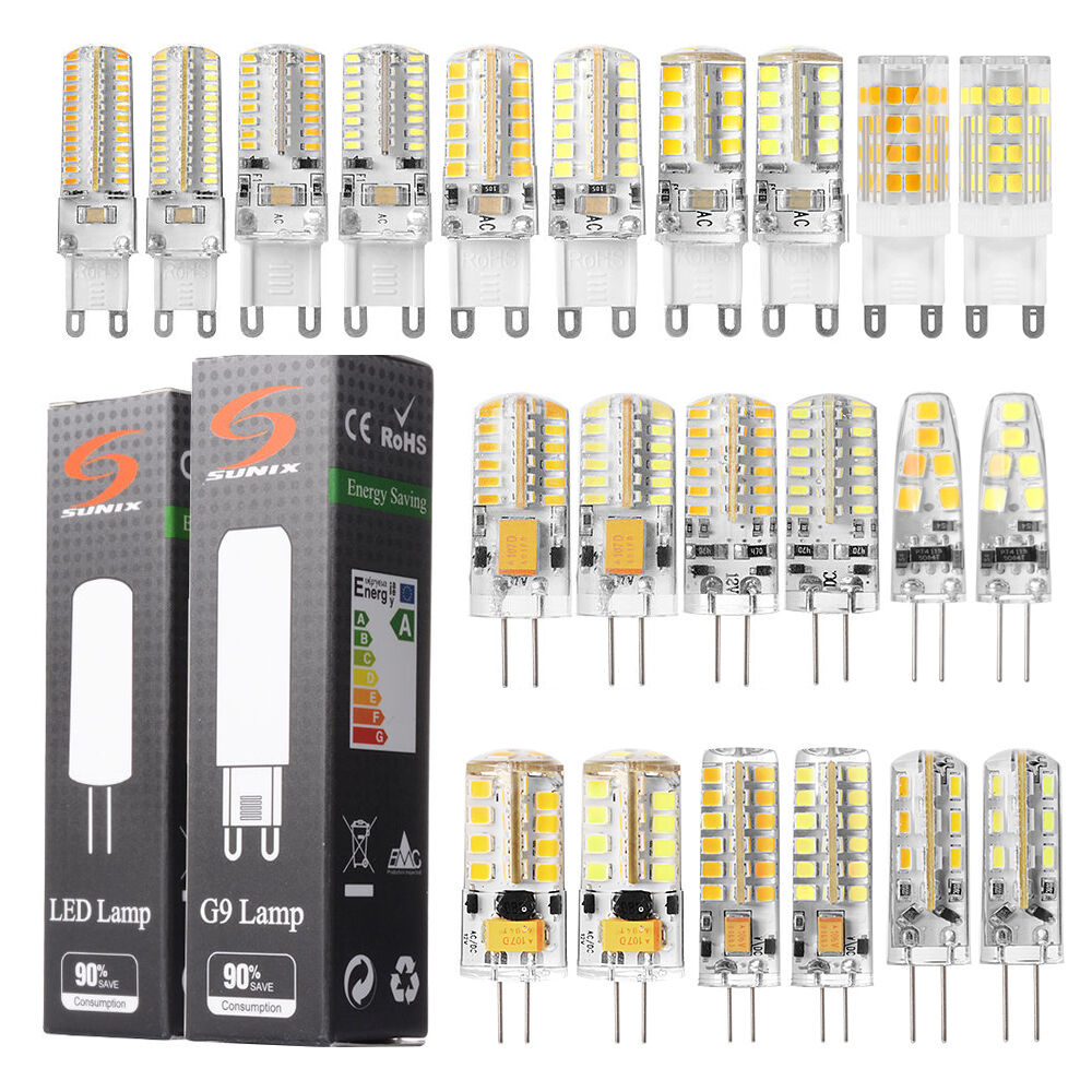 sunix 4x 10x g4 g9 led ampoule lampe bulbe lumi re blanc chaud froid 1 5w 3w 5w ebay. Black Bedroom Furniture Sets. Home Design Ideas