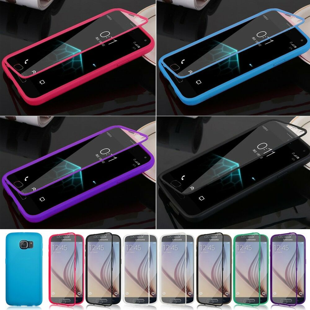 ... Rubber Gel Silicone Flip Case Cover For Samsung Galaxy S4 S5 S6 : eBay