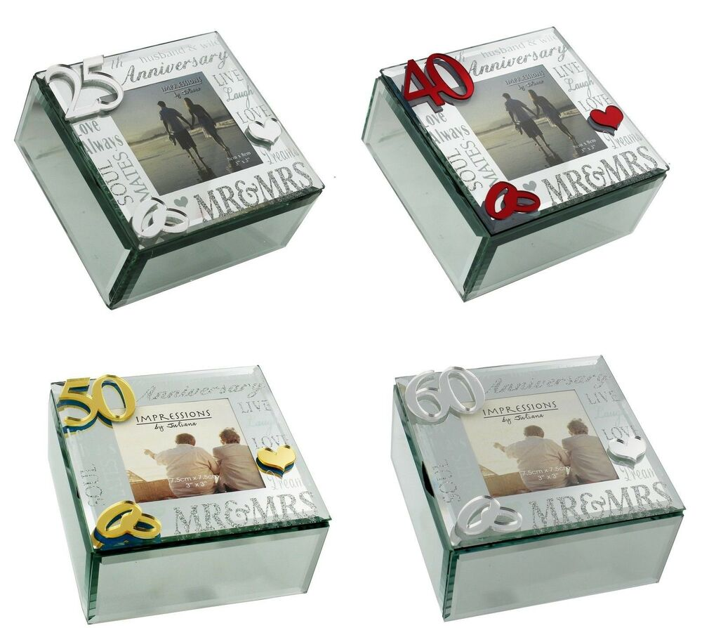 Ideas For 25th Wedding Anniversary Gift: Trinket Keepsake Box Wedding Anniversary Gift Ideas 25th