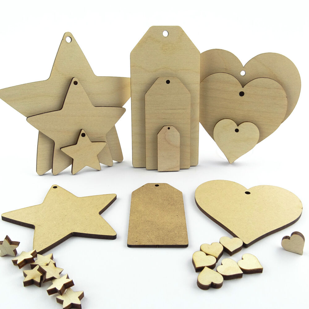 Wooden Craft Shapes Supplies Uk