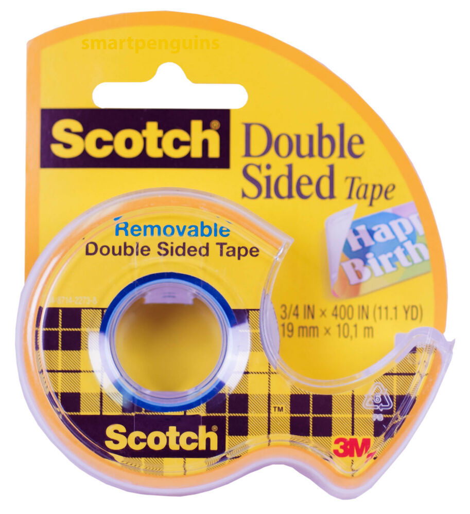 3m scotch double sided tape 3 4 wide photo safe 667. Black Bedroom Furniture Sets. Home Design Ideas