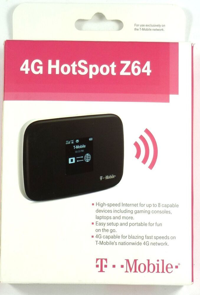 zte t mobile 4g gsm no contract personal wi fi hotspot wireless router mf64 ebay. Black Bedroom Furniture Sets. Home Design Ideas