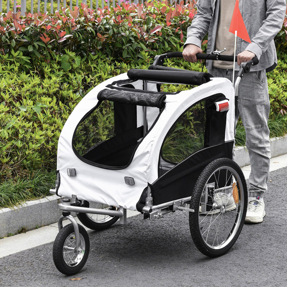 aosom 2in1 pet dog bike bicycle trailer stroller jogger w. Black Bedroom Furniture Sets. Home Design Ideas