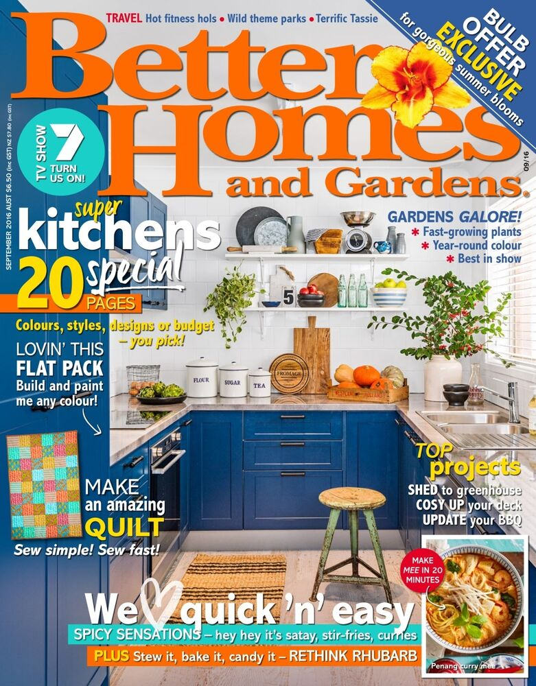 Better homes and gardens bhg magazine september 2016 new Better homes and gardens au