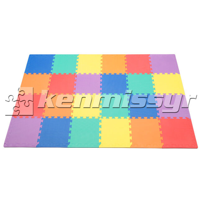"24 SF MULTI COLOR 12"" TILES INTERLOCKING FOAM FLOOR PUZZLE"
